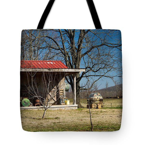 Mountain Cabin In Tennessee 2 Tote Bag by Douglas Barnett