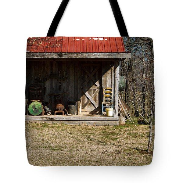 Mountain Cabin In Tennessee 3 Tote Bag by Douglas Barnett