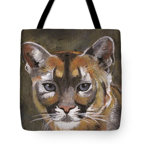 Mountain Cat Tote Bag by Jamie Frier