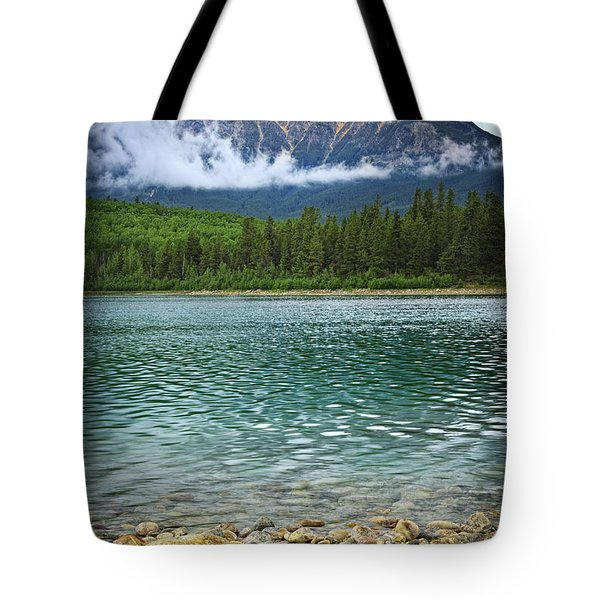 Mountain Lake Tote Bag by Elena Elisseeva