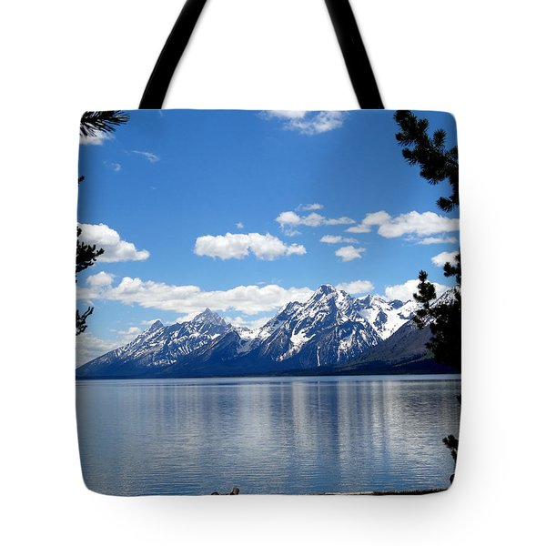 Mountain Reflection On Jenny Lake Tote Bag by Dan Sproul
