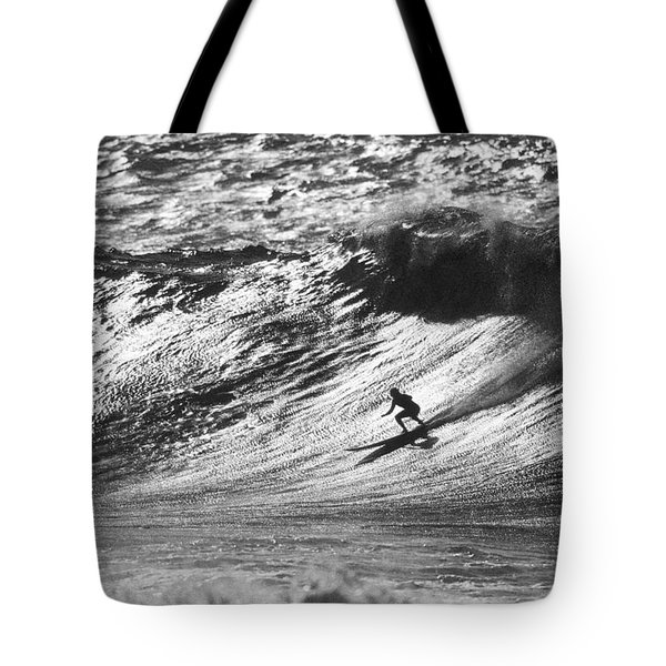 Mountain Surfer Tote Bag by Sean Davey