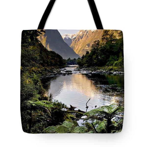 Mountain Valley Tote Bag by Tim Hester