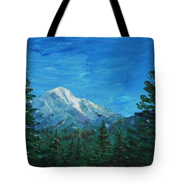 Mountain View Tote Bag by Anastasiya Malakhova