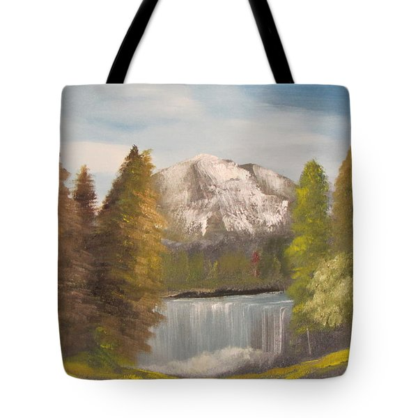 Mountain View Tote Bag by Dawn Nickel