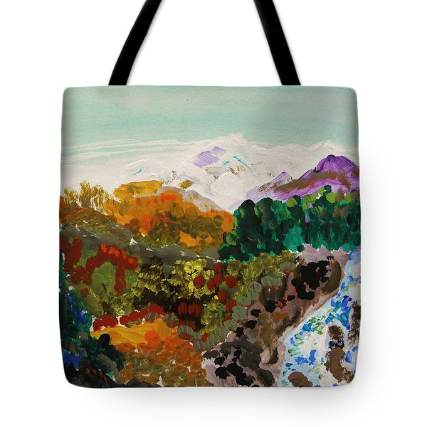 Mountain Water Tote Bag by Mary Carol Williams