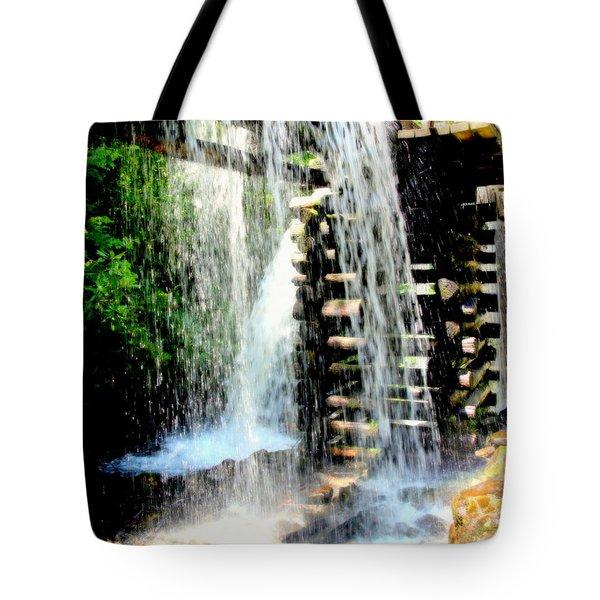 Mountain Waters Tote Bag by Karen Wiles