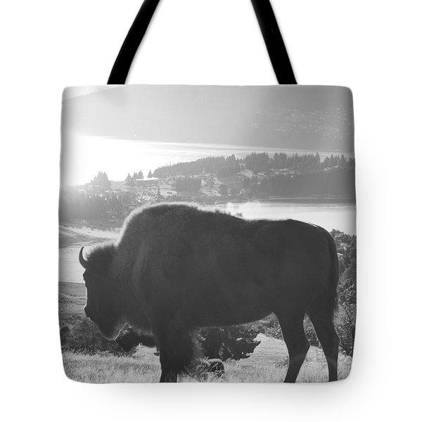 Mountain Wildlife Tote Bag by Pixel  Chimp