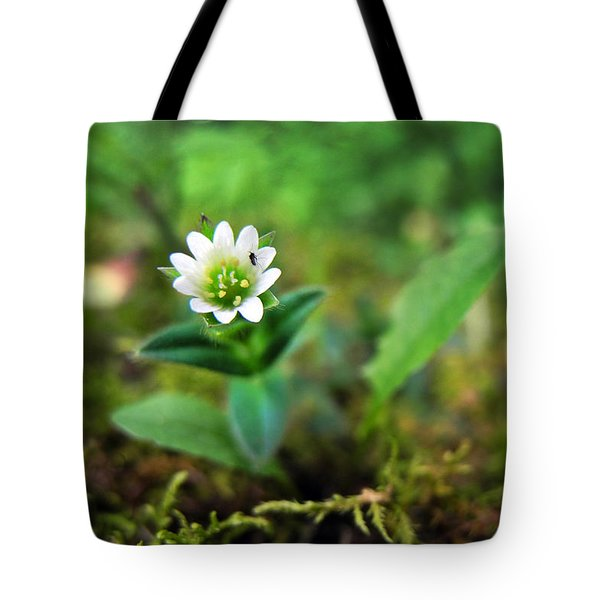 Mouse-Ear Chickweed Tote Bag by Christina Rollo