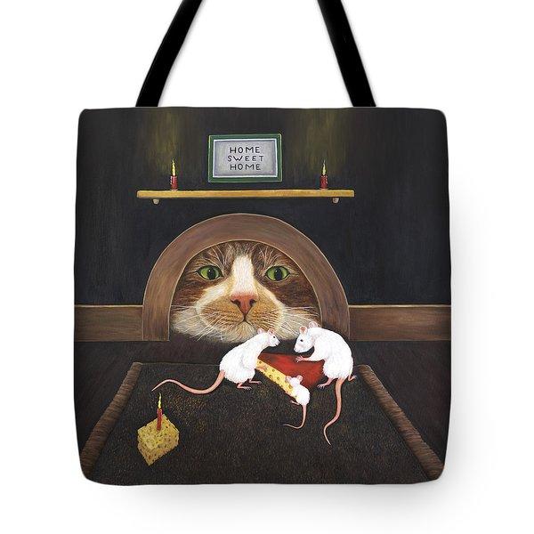 Mouse House Tote Bag by Karen Zuk Rosenblatt