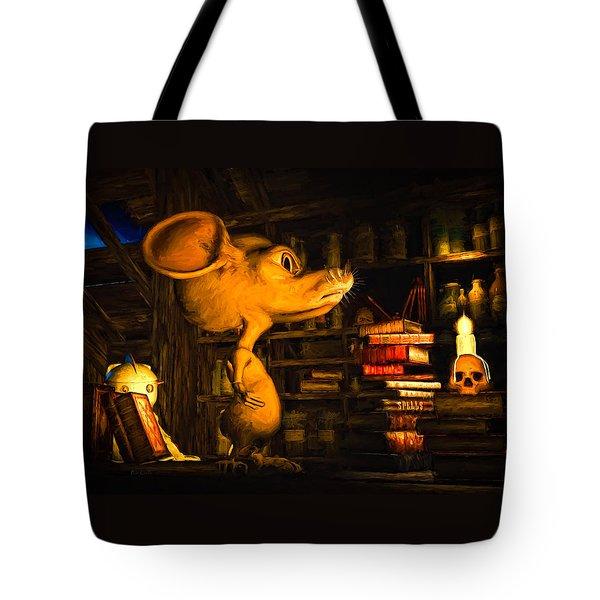 Mouse In The Attic Tote Bag by Bob Orsillo
