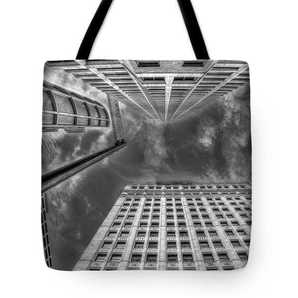 Moving on up Tote Bag by Scott Norris