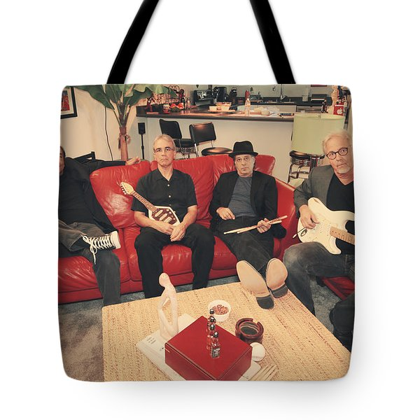 Mr. Chin's Hot Sauce Tote Bag by Laurie Search