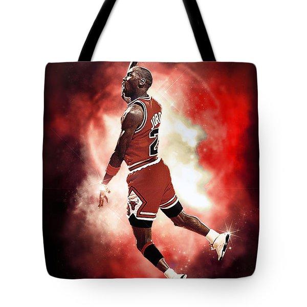 Mr. Michael Jeffrey Jordan Aka Air Jordan Mj Tote Bag by Nicholas  Grunas