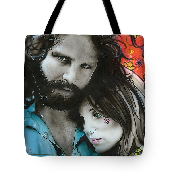 'mr Mojo Risin And Pam' Tote Bag by Christian Chapman Art