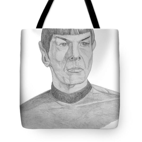 Mr. Spock Tote Bag by Thomas J Herring