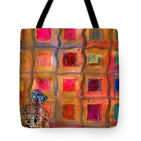 Ms Cool Goes Window Watching In Color Tote Bag by Angela L Walker