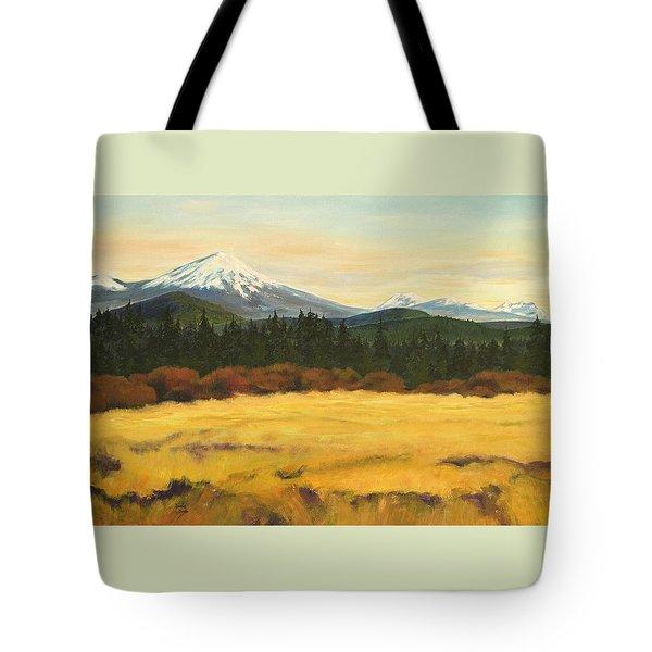 Mt. Bachelor Tote Bag by Donna Drake