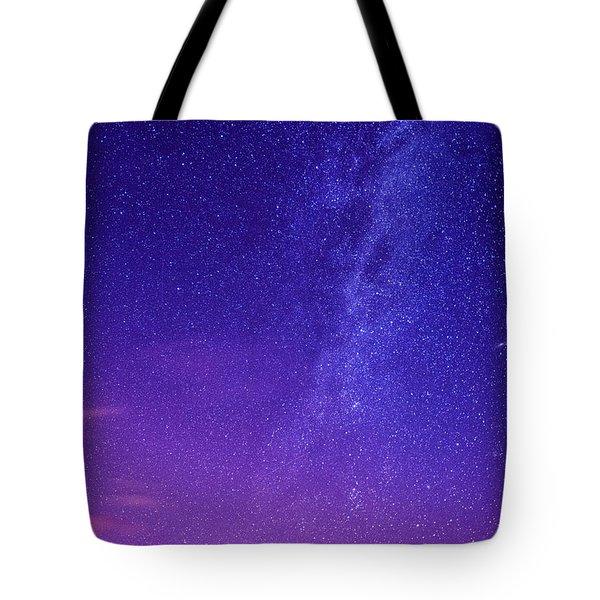Mt. Hood Milky Way 01 Tote Bag by Lori Grimmett