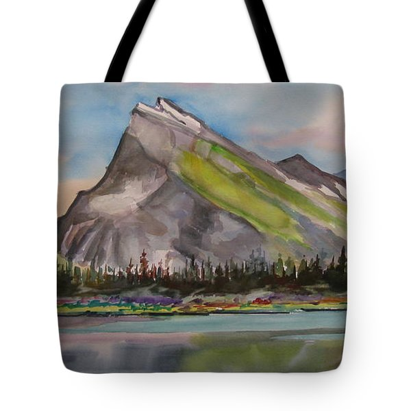Mt. Rundle Tote Bag by Mohamed Hirji