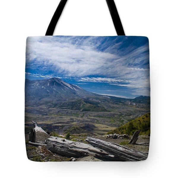 Mt St Helens Tote Bag by Brian Harig