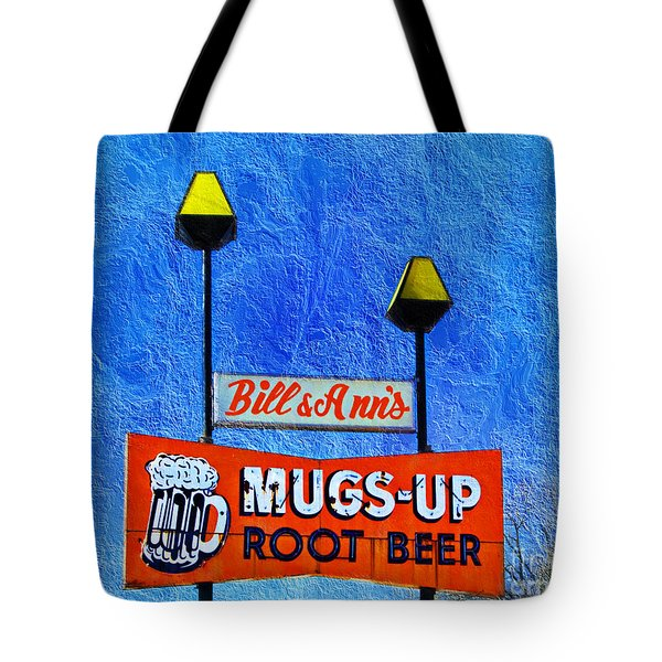 Mugs Up Root Beer Drive In Sign Tote Bag by Andee Design