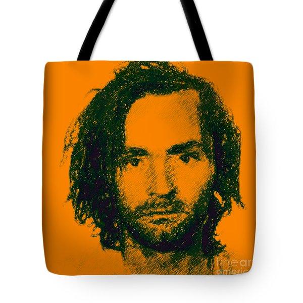 Mugshot Charles Manson P0 Tote Bag by Wingsdomain Art and Photography