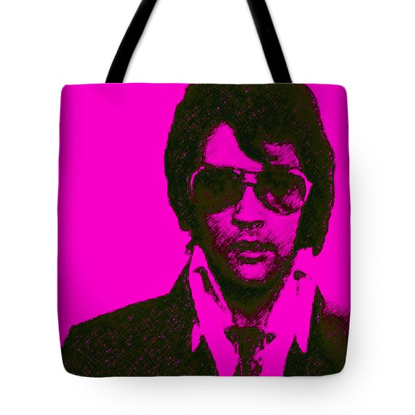 Mugshot Elvis Presley m80 Tote Bag by Wingsdomain Art and Photography