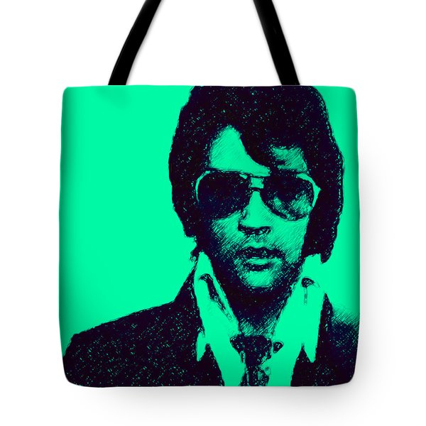 Mugshot Elvis Presley p128 Tote Bag by Wingsdomain Art and Photography