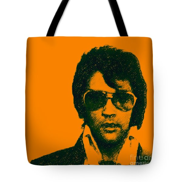 Mugshot Elvis Presley Square Tote Bag by Wingsdomain Art and Photography