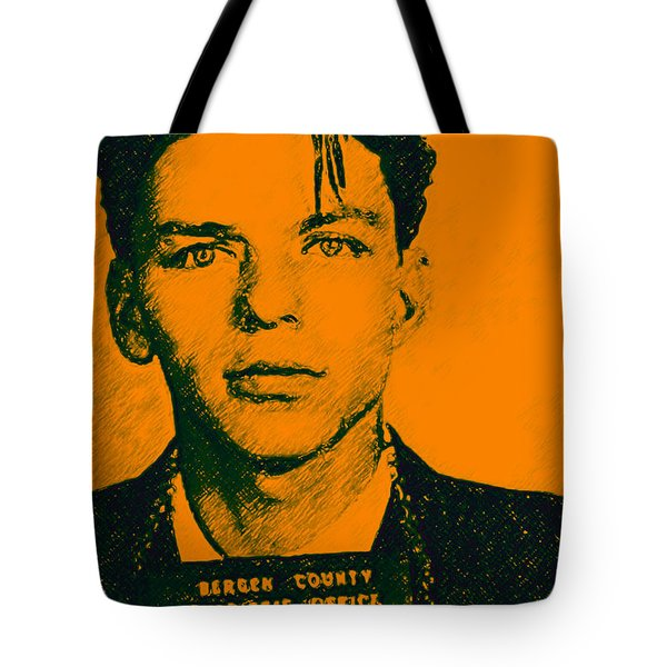Mugshot Frank Sinatra v1 Tote Bag by Wingsdomain Art and Photography