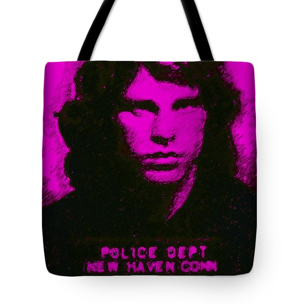 Mugshot Jim Morrison m88 Tote Bag by Wingsdomain Art and Photography
