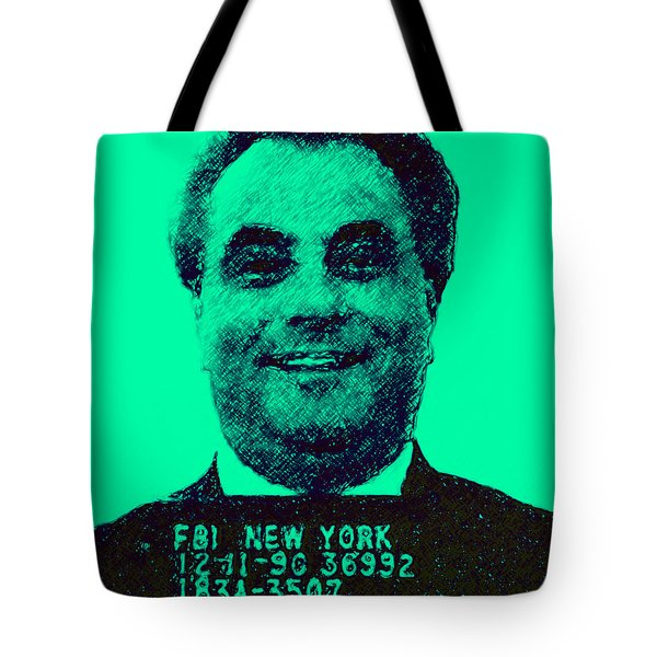 Mugshot John Gotti p128 Tote Bag by Wingsdomain Art and Photography