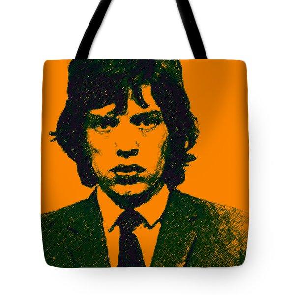 Mugshot Mick Jagger p0 Tote Bag by Wingsdomain Art and Photography