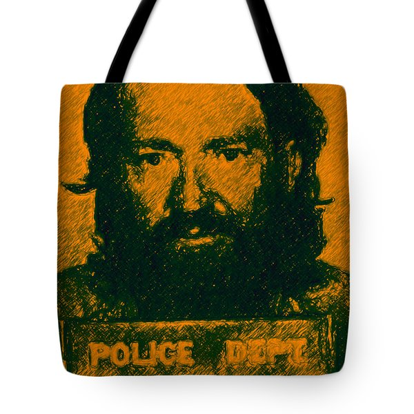 Mugshot Willie Nelson p0 Tote Bag by Wingsdomain Art and Photography