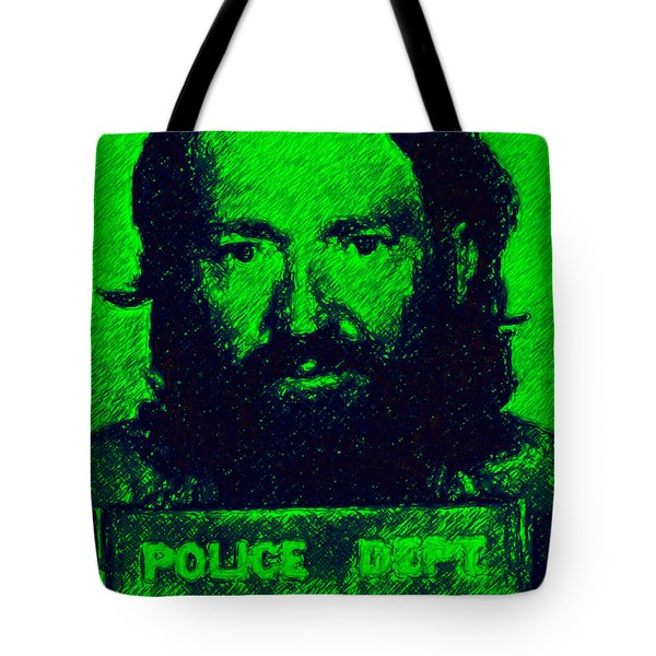Mugshot Willie Nelson p88 Tote Bag by Wingsdomain Art and Photography