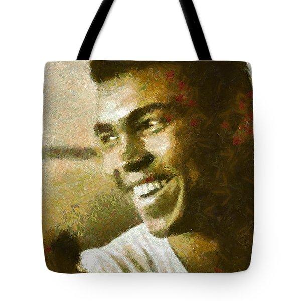 Muhamad Ali Tote Bag by Riccardo Zullian