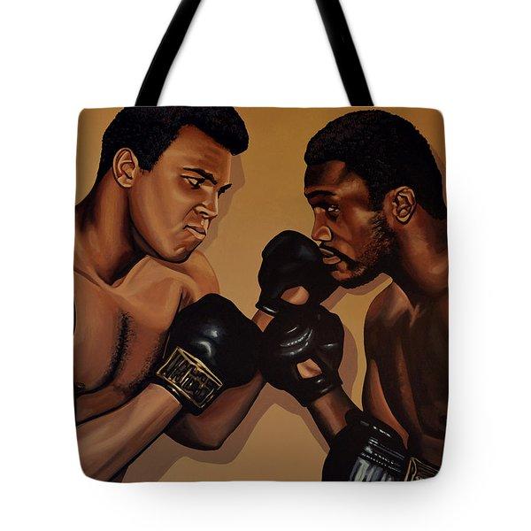 Muhammad Ali And Joe Frazier Tote Bag by Paul Meijering