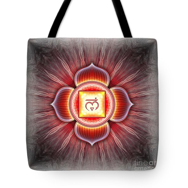 Muladhara Chakra Series Iv Tote Bag by Dirk Czarnota