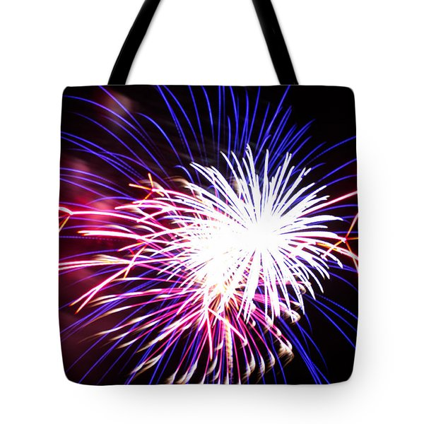 4th of July Fireworks 15  Tote Bag by Howard Tenke