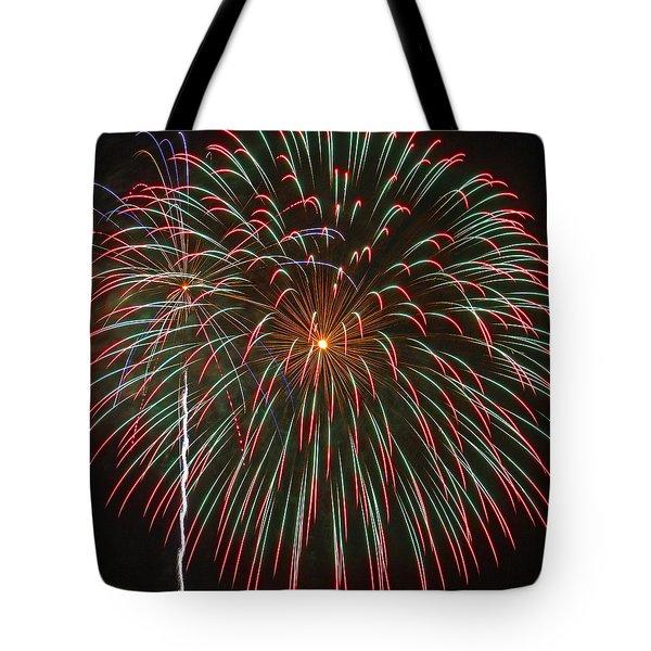 4th Of July Fireworks 16 Tote Bag by Howard Tenke
