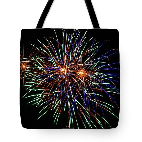 4th of July Fireworks 22 Tote Bag by Howard Tenke