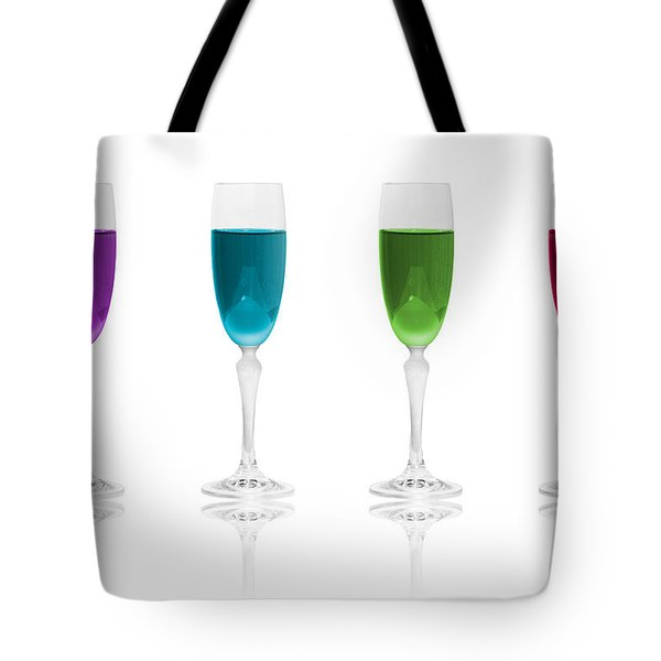 Multi Color Simplicity Tote Bag by Erik Brede
