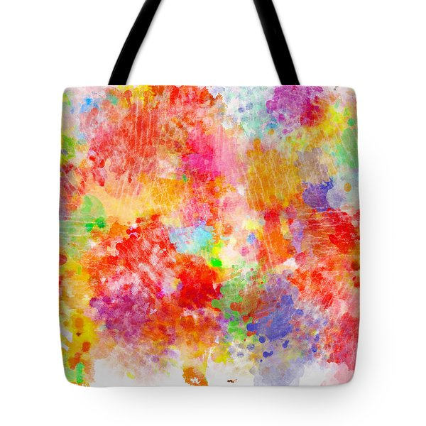 Multi Colored Ditgital Abstract 4 Tote Bag by Debbie Portwood
