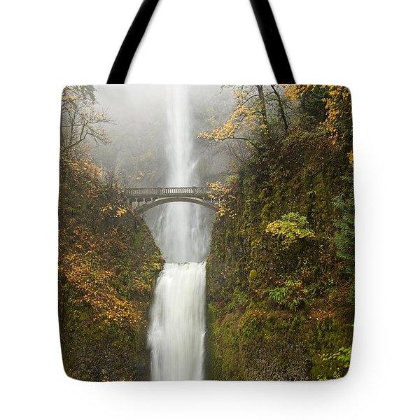 Multnomah Autumn Mist Tote Bag by Mike  Dawson