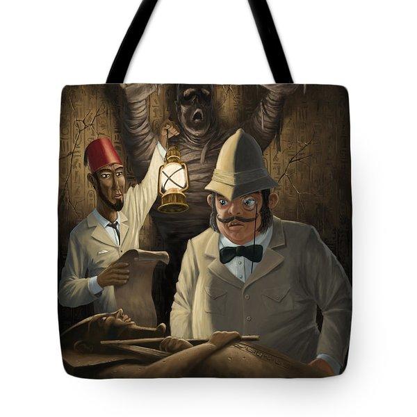 Mummy Awake Tote Bag by Martin Davey