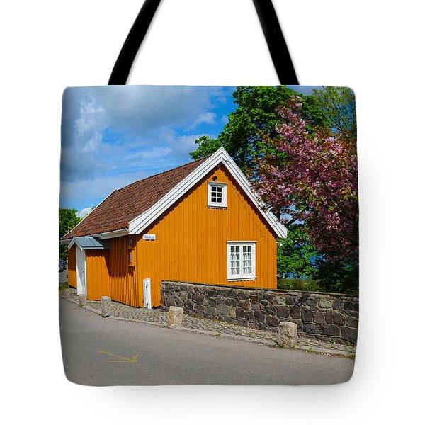 Munch's House Tote Bag by Randi Grace Nilsberg