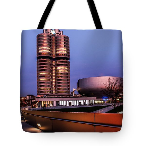 munich - BMW office - vintage Tote Bag by Hannes Cmarits