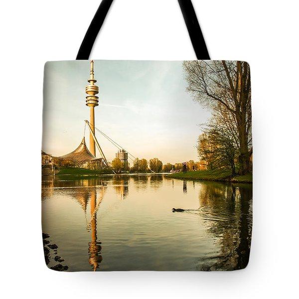 Munich - Olympiapark - Vintage Tote Bag by Hannes Cmarits