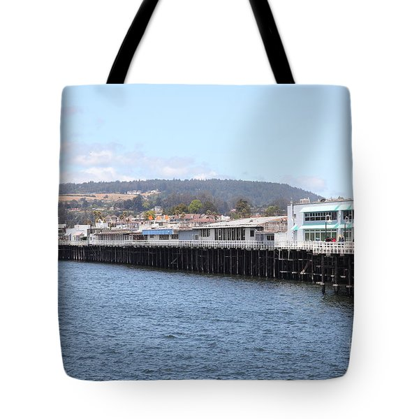 Municipal Wharf At The Santa Cruz Beach Boardwalk California 5d23813 Tote Bag by Wingsdomain Art and Photography